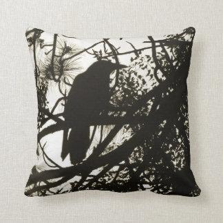 Raven Steampunk Throw Pillow