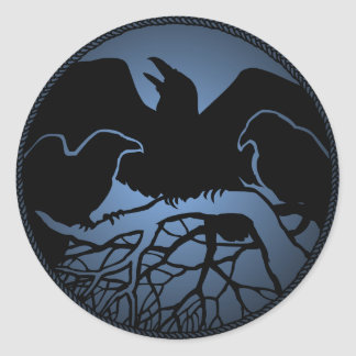 Raven Stickers Raven Gifts Raven Crow Art Stickers