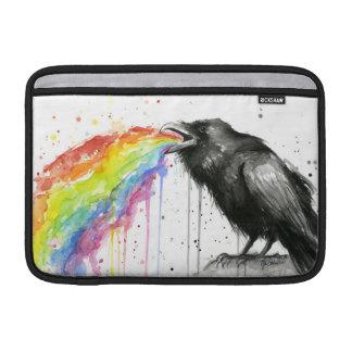 Raven Tastes the Rainbow Watercolor Macbook Sleeve