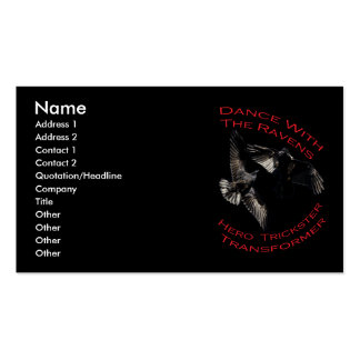 Raven the Transformer Double-Sided Standard Business Cards (Pack Of 100)
