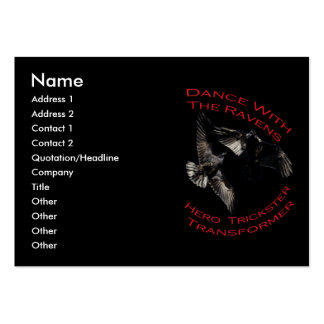 Raven the Transformer Large Business Card