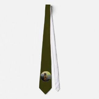 Raven Totem Pole Tie