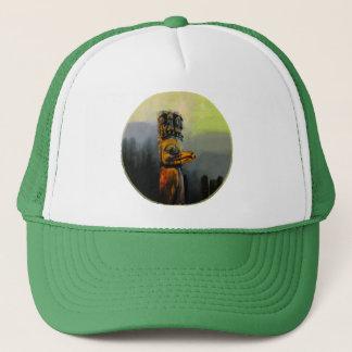 Raven Totem Pole Trucker Hat