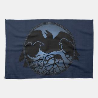 Raven Towel First Nations Raven Art Tea Towel Gift