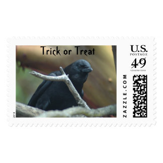 Raven Trick or Treat Stamp