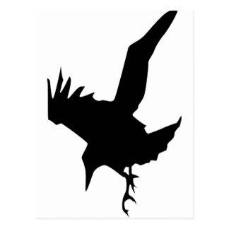 Raven un ave rapaz de Halloween Postales