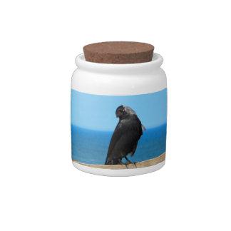 Raven Watching Candy Jars