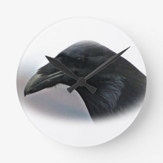 Raven Watching over the mountains Wallclock