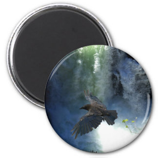 RAVEN & WATER FALL Nature Gifts Fridge Magnets