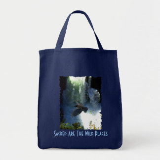 RAVEN & WATER FALL Nature Gifts Tote Bag