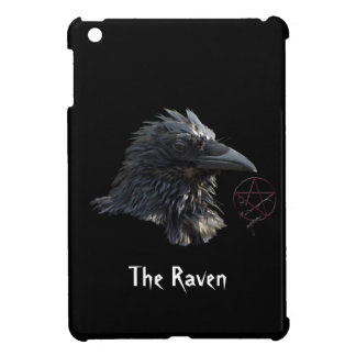 Raven Wiccan Pentacle Gothic Design iPad Mini Cover