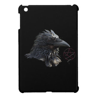 Raven Wiccan Pentacle Gothic Design iPad Mini Covers
