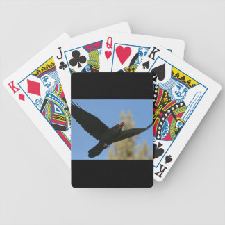 Raven with Bison Bicycle Playing Cards