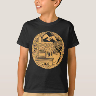 Raven with Ghosts at Haunted House T-Shirt