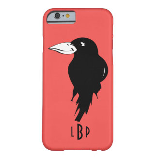 Raven with Monogram Barely There iPhone 6 Case