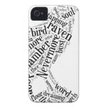 Raven Word Cloud iPhone 4 Covers