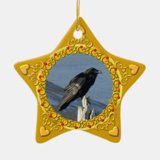 Raven Yule Star Ornaments