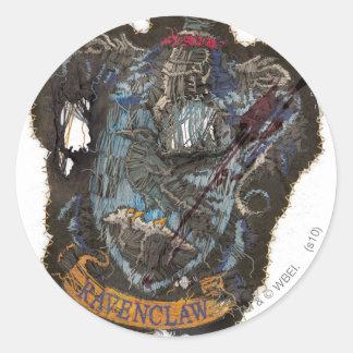 Ravenclaw Crest - Destroyed Classic Round Sticker