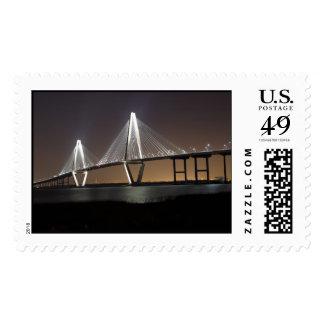 Ravenel Bridge At Night Postage