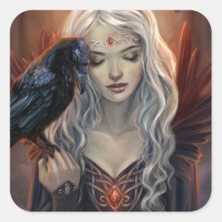 Ravenkin Pegatina Cuadrada
