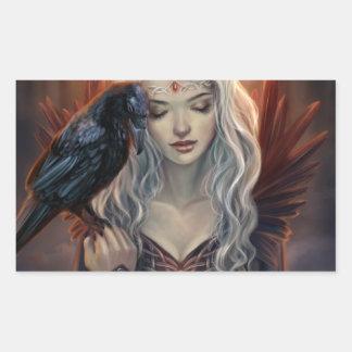 Ravenkin Pegatina Rectangular
