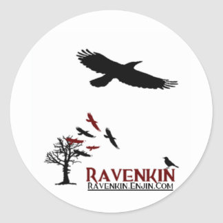 Ravenkin Special Sticky Classic Round Sticker
