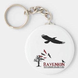 Ravenkin Specialty Basic Round Button Keychain