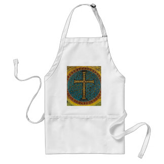 Ravenna Mosaic Cross Adult Apron