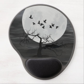 Ravens Against the Full Moon Gel Mouse Pad