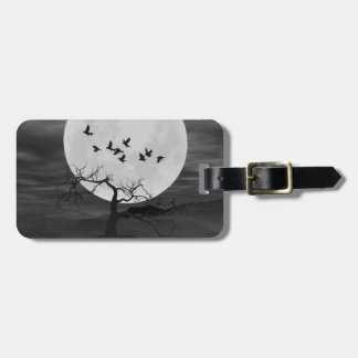 Ravens Against the Full Moon Tags For Luggage