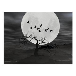 Ravens Against the Full Moon Postcard