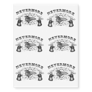 Ravens and Crows Nevermore Temporary Tattoos