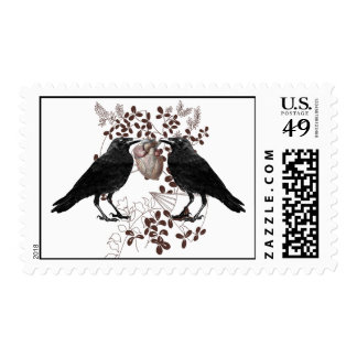 Ravens and Heart Postage