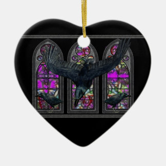 Ravens Blessed Samhain Personalized Heart Ornament