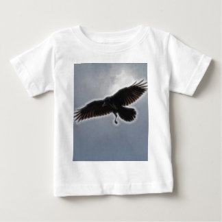 Raven's Descent Fractal Print Baby T-Shirt