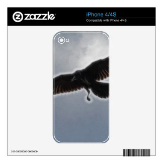 Raven's Descent Fractal Print Decal For iPhone 4