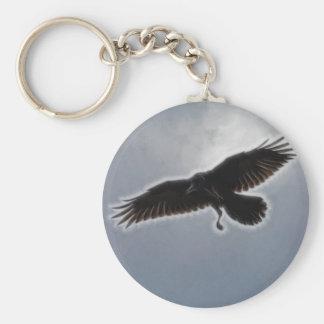 Raven's Descent Fractal Print Keychain
