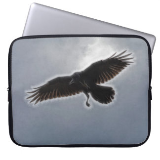 Raven's Descent Fractal Print Laptop Computer Sleeves