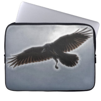 Raven's Descent Fractal Print Laptop Sleeve