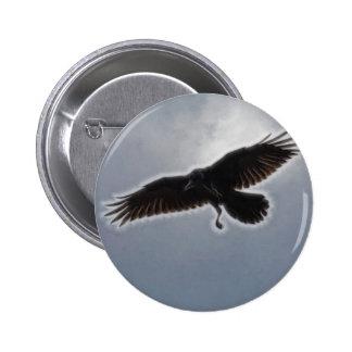 Raven's Descent Fractal Print Pinback Button