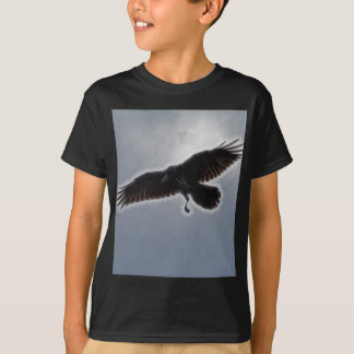 Raven's Descent Fractal Print T-Shirt