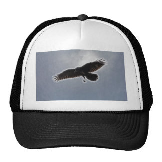 Raven's Descent Fractal Print Trucker Hat