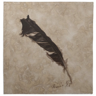 Raven's Feather Bird-lover Crow design Cloth Napkin