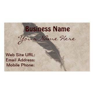 Raven's Feather Bird-lover Crow design Double-Sided Standard Business Cards (Pack Of 100)