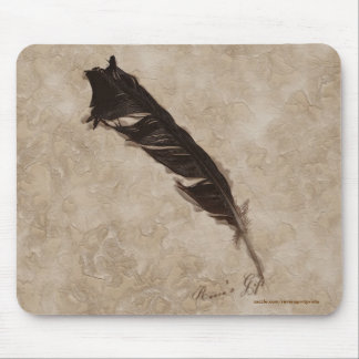 Raven's Feather Bird-lover Crow design Mousepad