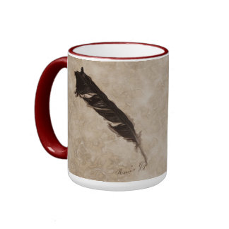 Raven's Feather Bird-lover Crow design Coffee Mugs