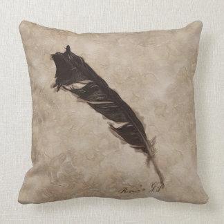 Raven's Feather Bird-lover Crow design Throw Pillow
