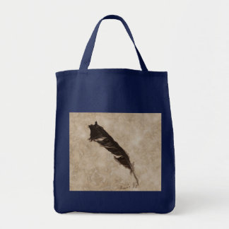 Raven's Feather Bird-lover Crow design Tote Bag