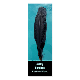 Raven's Feather Double-Sided Mini Business Cards (Pack Of 20)