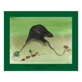 """Raven's Harvest Berries"" Print"